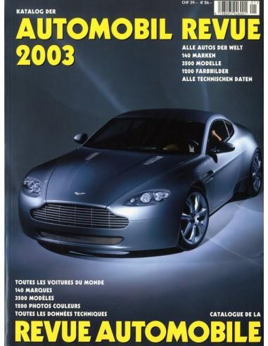 2003 AUTOMOBIL REVUE JAARBOEK DUITS FRANS
