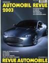 2003 AUTOMOBIL REVUE JAHRESKATALOG DEUTSCH FRANZÖSISCH