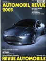 2003 AUTOMOBIL REVUE YEARBOOK GERMAN FRENCH