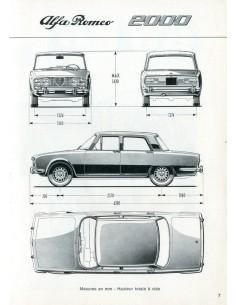 1972 ALFA ROMEO 2000 BERLINA INSTRUCTIEBOEKJE FRANS