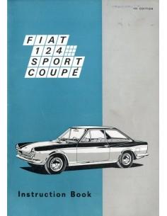 1968 FIAT 124 SPORT COUPE INSTRUCTIEBOEKJE ENGELS