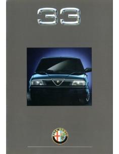 1991 ALFA ROMEO 33 BROCHURE NEDERLANDS