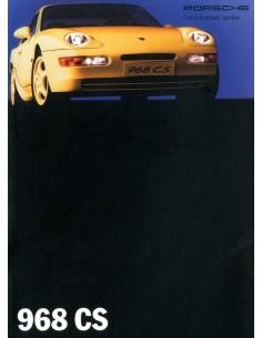 1993 PORSCHE 968 CS BROCHURE ITALIAANS