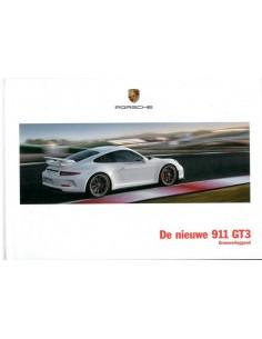 2013 PORSCHE 911 GT3 HARDCOVER BROCHURE NEDERLANDS