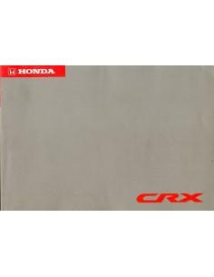 1992 HONDA CRX INSTRUCTIEBOEKJE DUITS