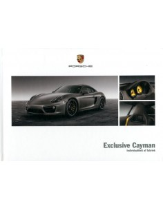 2013 PORSCHE EXCLUSIVE CAYMAN HARDCOVER BROCHURE NEDERLANDS