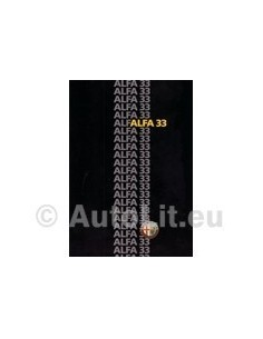 1985 ALFA ROMEO 33 BROCHURE DUITS