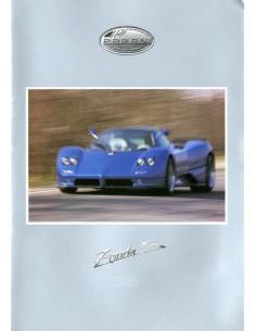 2002 PAGANI ZONDA S 7.3 BROCHURE FRANS