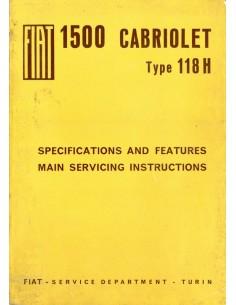 1963 FIAT 1500 CABRIOLET WERKPLAATSHANDBOEK ENGELS