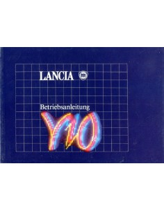 1989 LANCIA Y10 BETRIEBSANLEITUNG DUITS