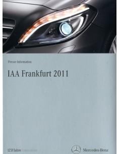 2011 MERCEDES BENZ IAA FRANKFURT PROGRAMMA PERSMAP DUITS