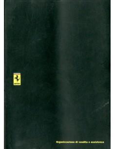 1991 FERRARI VERKOOP & SERIVCE ORGANISATIE INSTRUCTIEBOEKJE 701/91