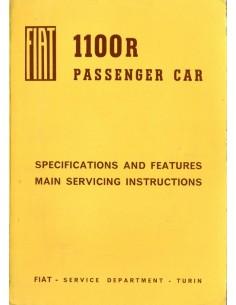 1966 FIAT 1100 R WERKPLAATSHANDBOEK ENGELS