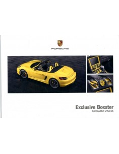 2013 PORSCHE BOXSTER EXCLUSIVE HARDCOVER BROCHURE NEDERLANDS