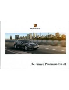 2013 PORSCHE PANAMERA DIESEL HARDCOVER BROCHURE NEDERLANDS