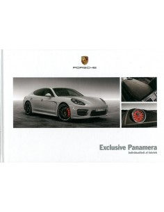 2013 PORSCHE PANAMERA EXCLUSIVE HARDCOVER BROCHURE NEDERLANDS