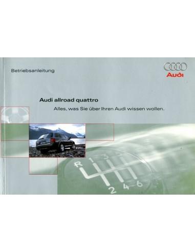 2000 audi allroad quattro owner s manual german rh autolit eu Toyota Owners Manual Cartoon Manual