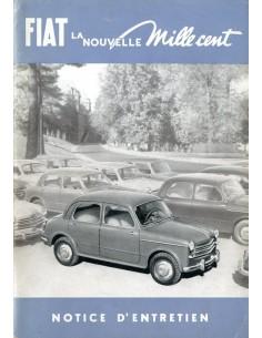 1953 FIAT 1100 INSTRUCTIEBOEKJE FRANS