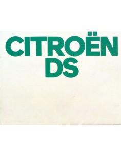 1972 CITROEN DS BROCHURE NEDERLANDS