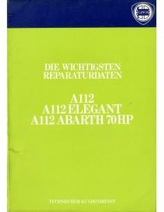1979 AUTOBIANCHI A112 WERKPLAATSHANDBOEK DUITS