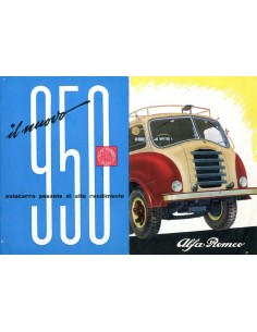1955 ALFA ROMEO 950 AUTOCARRO BROCHURE ITALIAANS