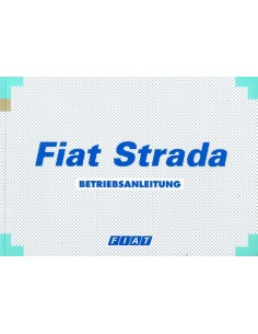 1999 FIAT STRADA INSTRUCTIEBOEKJE DUITS