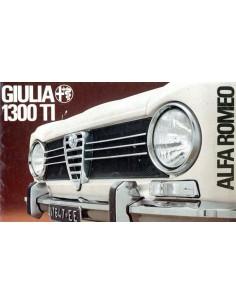 1969 ALFA ROMEO GIULIA 1300 TI BROCHURE DUITS