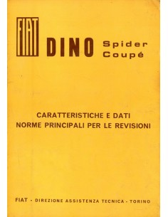 1967 FIAT DINO SPIDER COUPE WERKPLAATSHANDBOEK ITALIAANS