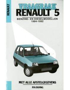 1984 - 1992 RENAULT 5 BENZINE DIESEL VRAAGBAAK NEDERLANDS