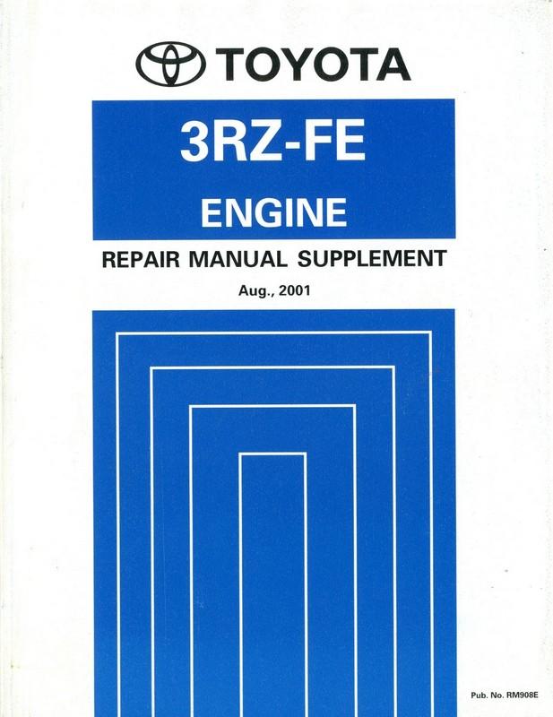 2001 toyota hilux hiace 3rz fe engine repair manual english rh autolit eu toyota 2z engine repair manual toyota engine repair manual rm123e