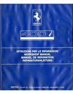 1985 FERRARI 400 I WERKPLAATSHANDBOEK 338/85