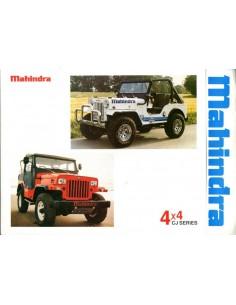 1988 MAHINDRA 4X4 CJ SERIES BROCHURE ENGELS