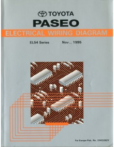 1995 TOYOTA PASEO ELECTRISCHE SCHEMA'S WERKPLAATSHANDBOEK ENGELS