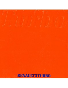 1981 RENAULT 5 TURBO PORTFOLIO BROCHURE NEDERLANDS