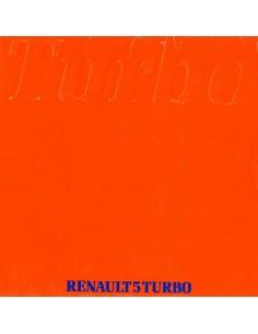 1981 RENAULT 5 TURBO PORTFOLIO BROCHURE NEDERLANDS