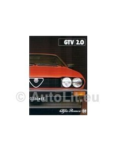 1981 ALFA ROMEO GTV 2.0 BROCHURE FRENCH