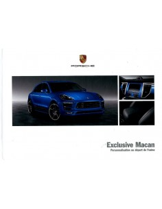 2014 PORSCHE MACAN EXCLUSIVE HARDCOVER BROCHURE FRANS
