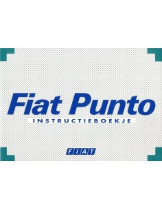 1997 FIAT PUNTO INSTRUCTIEBOEKJE NEDERLANDS