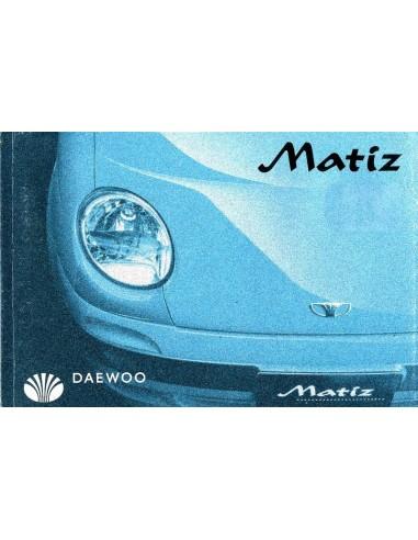 2000 DAEWOO MATIZ OWNERS MANUAL DUTCH