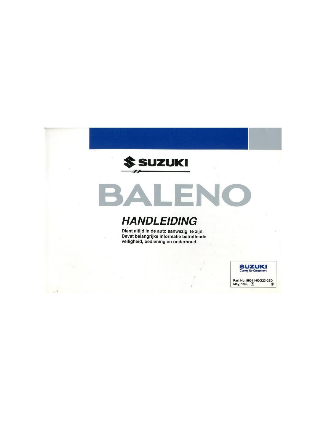 Suzuki Baleno Owners Manual