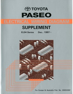 1997 TOYOTA PASEO BIJLAGE ELECTRISCHE SCHEMA'S WERKPLAATSHANDBOEK ENGELS