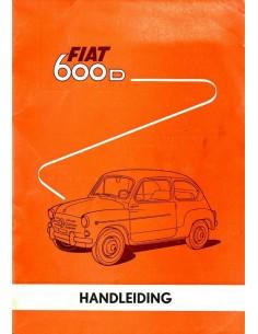 1962 FIAT 600 D INSTRUCTIEBOEKJE NEDERLANDS