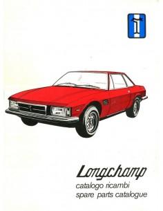1972 DE TOMASO LONGCHAMP ONDERDELENBOEK ITALIAANS & ENGELS