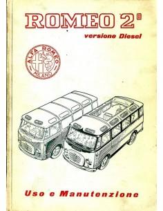 1960 ALFA ROMEO ROMEO 2 DIESEL INSTRUCTIEBOEKJE ITALIAANS