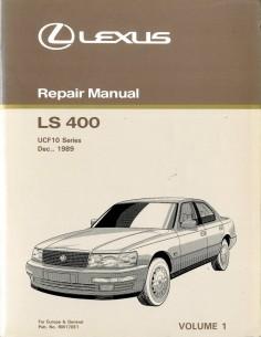 1990 LEXUS LS 400 CHASSIS & CAROSSERIE WERKPLAATSHANDBOEK ENGELS