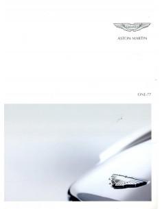 2011 ASTON MARTIN ONE-77 BROCHURE ENGELS