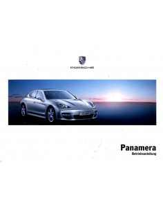 2010 PORSCHE PANAMERA INSTRUCTIEBOEKJE DUITS