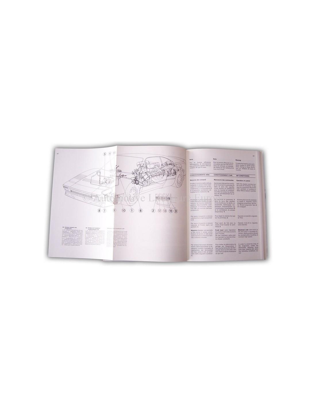1985 ferrari 288 gto owners manual handbook 1985 ferrari 288 gto instructieboekje sciox Image collections