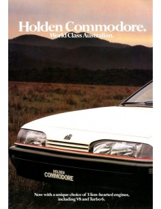1987 HOLDEN COMMODORE BROCHURE ENGELS