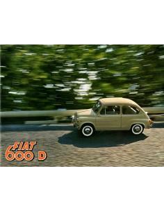 1960 FIAT 600 D & 600 D MULITPLA BROCHURE NEDERLANDS